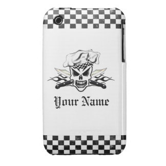 Chef Skull and Flaming Chef Knives 2 iPhone 3 Covers