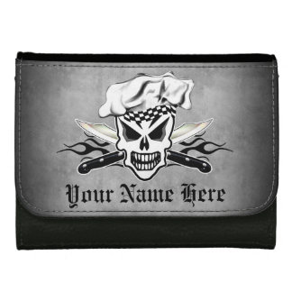 Chef Skull and Flaming Chef Knives 2 Wallet