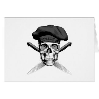 Chef Skull and Knives Card