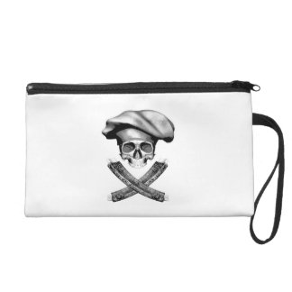 Chef Skull and Ribs Wristlets