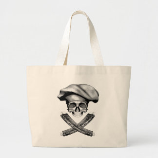 Chef Skull and Ribs Tote Bags