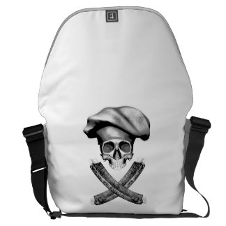 Chef Skull and Ribs Messenger Bags