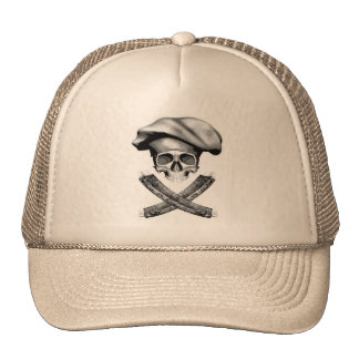 Chef Skull and Ribs Trucker Hat