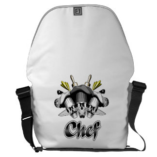 Chef Skull and Tools of the Trade Messenger Bag