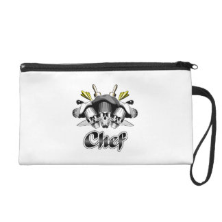 Chef Skull and Tools of the Trade Wristlet