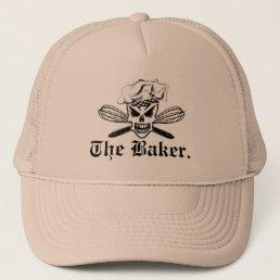 Chef Skull and Whisks: The Baker Trucker Hat