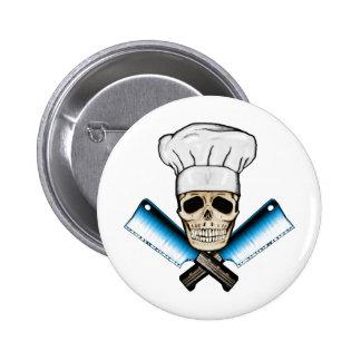 Chef_Skull_C1 2 Inch Round Button