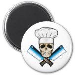 Chef_Skull_C1 2 Inch Round Magnet