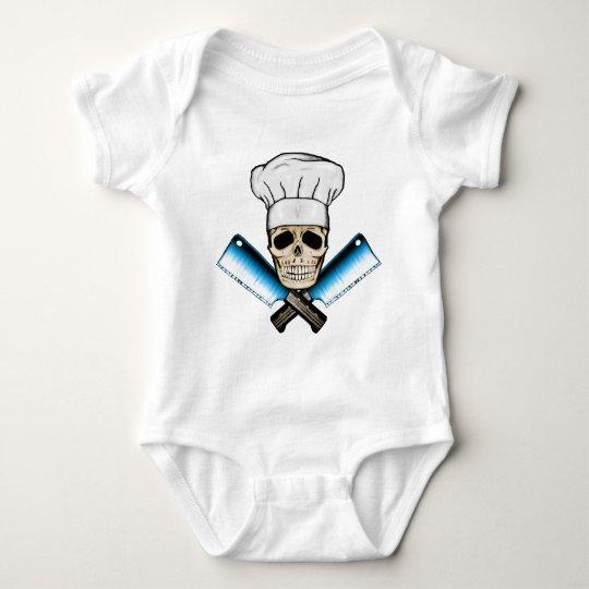 Chef_Skull_C1 Baby Bodysuit