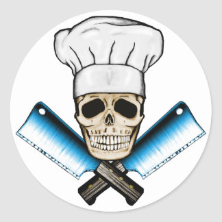 Chef_Skull_C1 Classic Round Sticker