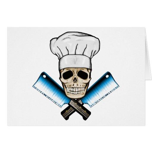 Chef_Skull_C1 Greeting Card