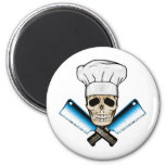 Chef_Skull_C1 Imán Redondo 5 Cm