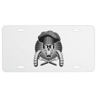 Chef Skull: Griller License Plate