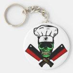 Chef_Skull_HCC1 Basic Round Button Keychain