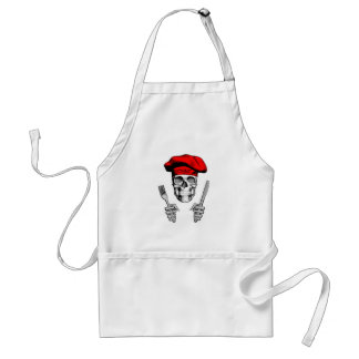 Chef Skull: Knife and Fork Adult Apron