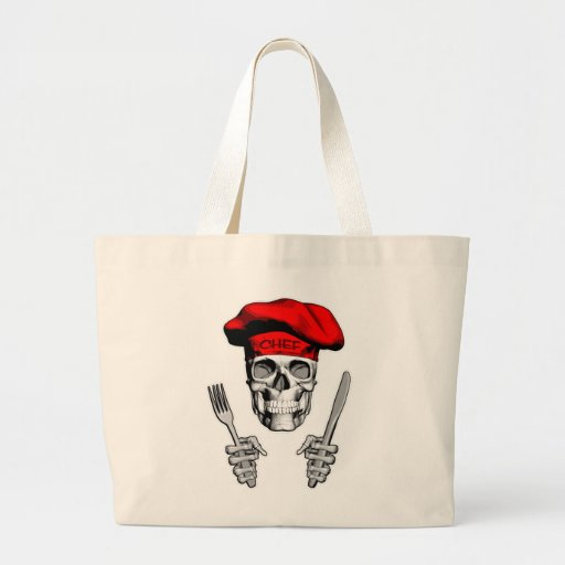 chef skull knife and fork canvas bags. Black Bedroom Furniture Sets. Home Design Ideas