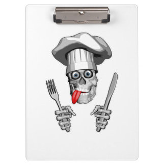Chef Skull: Knife and Fork Clipboards
