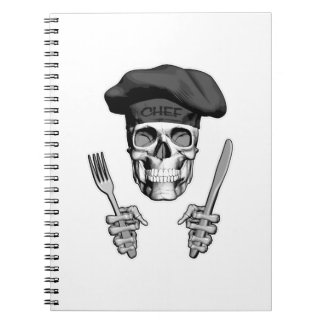 Chef Skull: Knife and Fork Notebook