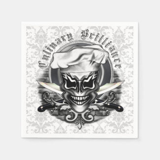 Chef Skull Napkins: Culinary Brilliance Disposable Napkin