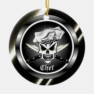 Chef Skull Ornament