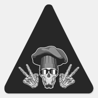 Chef Skull: Peace Sign Sticker