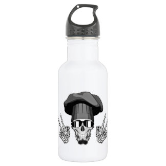 Chef Skull: Peace Sign Water Bottle