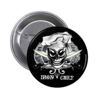 Chef Skull Pin: Iron Chef Button