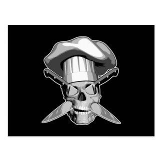 Chef Skull Postcard