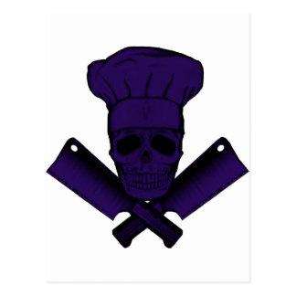 Chef_Skull_purple Postal