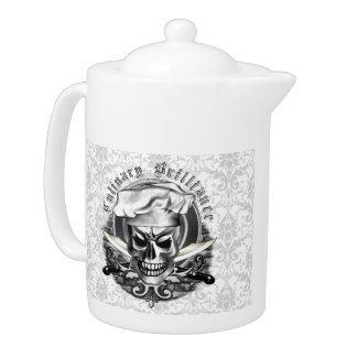Chef Skull Tea Pot