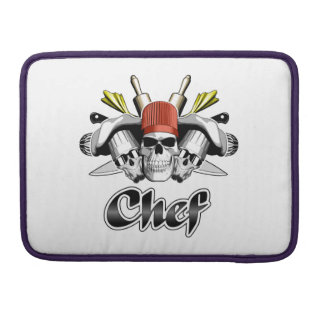 Chef Skull: Tools of the Trade MacBook Pro Sleeve