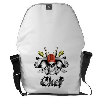 Chef Skull: Tools of the Trade Messenger Bag
