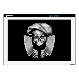 """Chef Skull with Butcher Knives 17"""" Laptop Skin"""