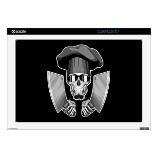 """Chef Skull with Butcher Knives 17"""" Laptop Skins"""