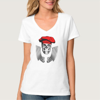 Chef Skull with Butcher Knives T-Shirt