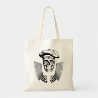 Chef Skull with Butcher Knives Tote Bag