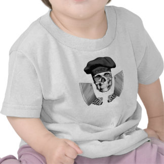 Chef Skull with Butcher Knives T Shirts