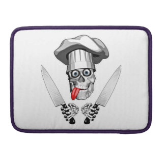Chef Skull with Chef Knives MacBook Pro Sleeves