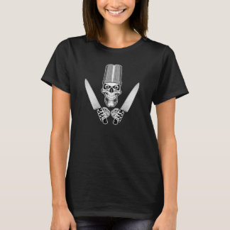 Chef Skull with Chef Knives T-Shirt