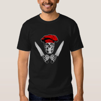 Chef Skull with Chef Knives Tee Shirt