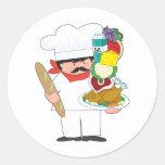 Chef Stack Classic Round Sticker