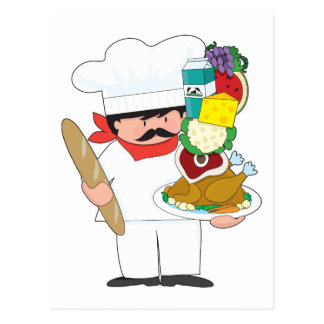 Chef Stack Postcard