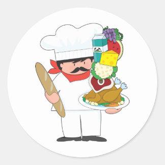 Chef Stack Round Stickers