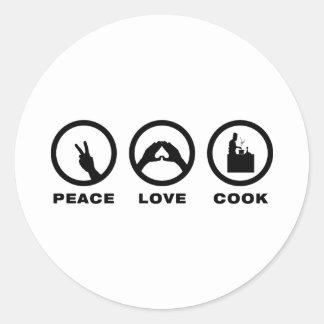 Chef Round Sticker