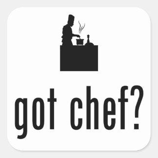 Chef Square Stickers