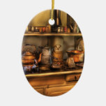 Chef - Stove -  What's for dinner Double-Sided Oval Ceramic Christmas Ornament