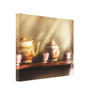 Chef - Tea - My Grandmother's Chinese Tea Set Canvas Print