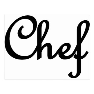 chef text deluxe postcard