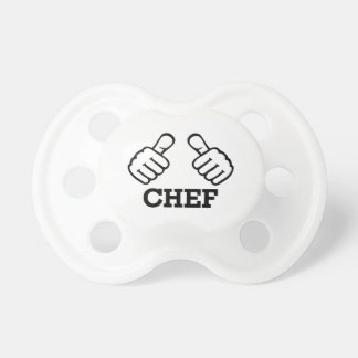 Chef thumbs pacifier