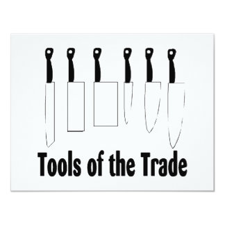 Chef Tools of the Trade Knives 4.25x5.5 Paper Invitation Card
